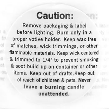 Warning/Caution Labels (Votive)