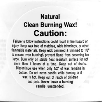 Warning/ Caution Labels (Small Soy)