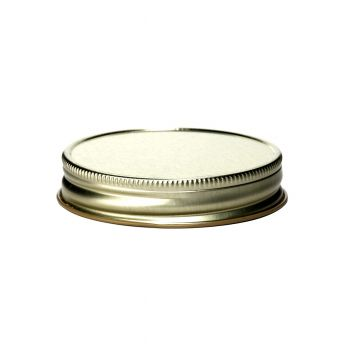 Metal Threaded Lid Gold #70