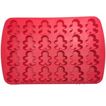 Silicone Gingerbread Boy Mold - 24 count