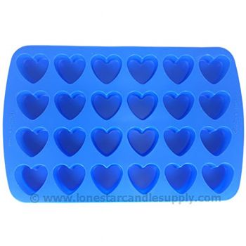 Silicone Heart Mold - 24 count