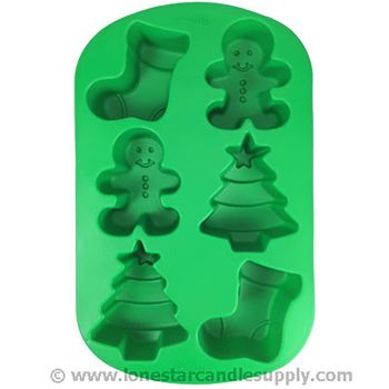Silicone Stocking/Boy/Tree Mold - 6 count