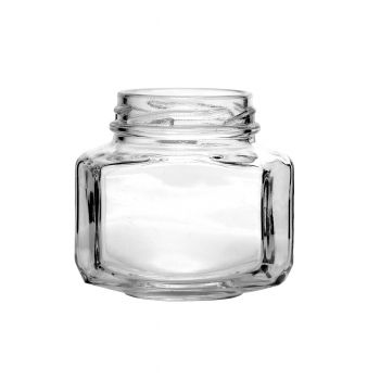 Oval Hexagon Jar 3.7oz