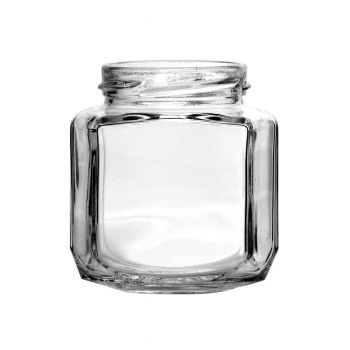 Oval Hexagon Jar 6.4oz