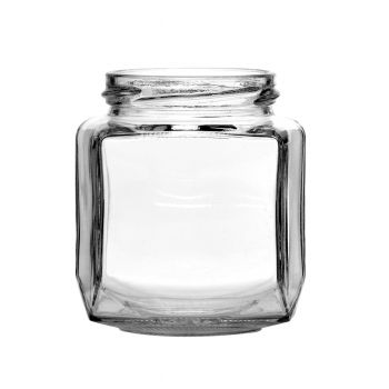 Oval Hexagon Jar 9oz