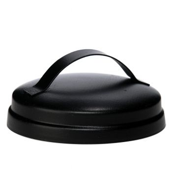 Rustic Lid W/ Handle Black