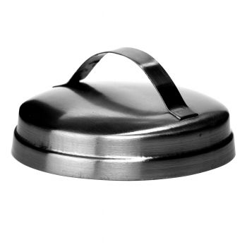 Rustic Lid W/ Handle Silver