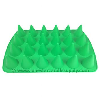 Silicone 3D Cone Mold - 24 count