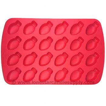 Silicone Light Bulb Mold - 24 count