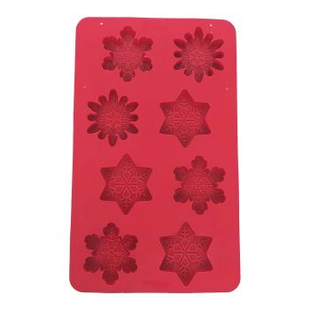 Silicone Snowflake Mold - 8 count