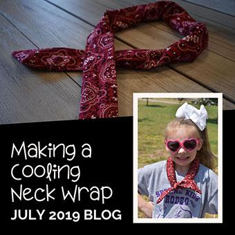 Making a Cooling Neck Wrap