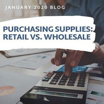 Purchasing Supplies: Retail vs. Wholesale